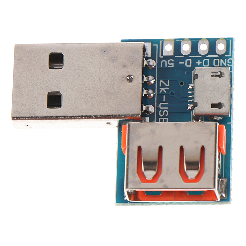 Type A USB Converter Standard USB Female To Male To Micro USB To 4P Terminal Adapter Board 2.54mm Connector