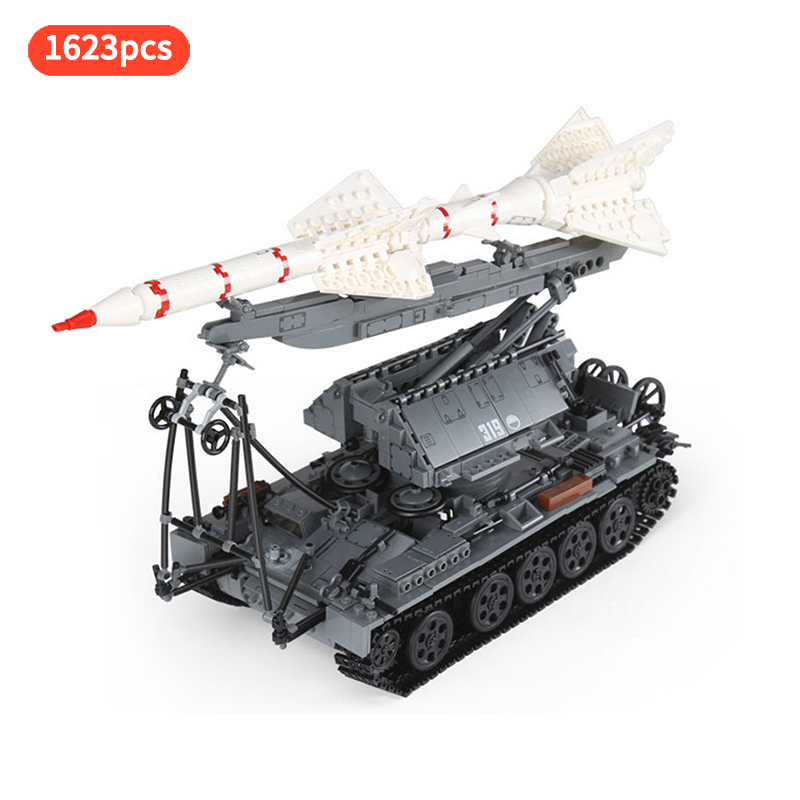 military ww2 army war SA-2 Guideline With T-55 Tank Tracking missile Launch vehicles building blocks minifigs brick toys gift