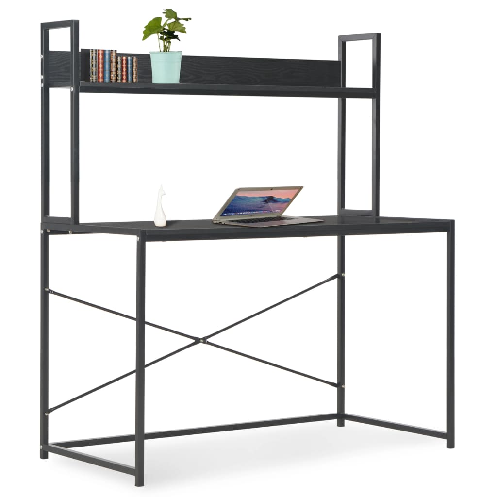 VidaXL Computer Desk Black 120x60x138 Cm