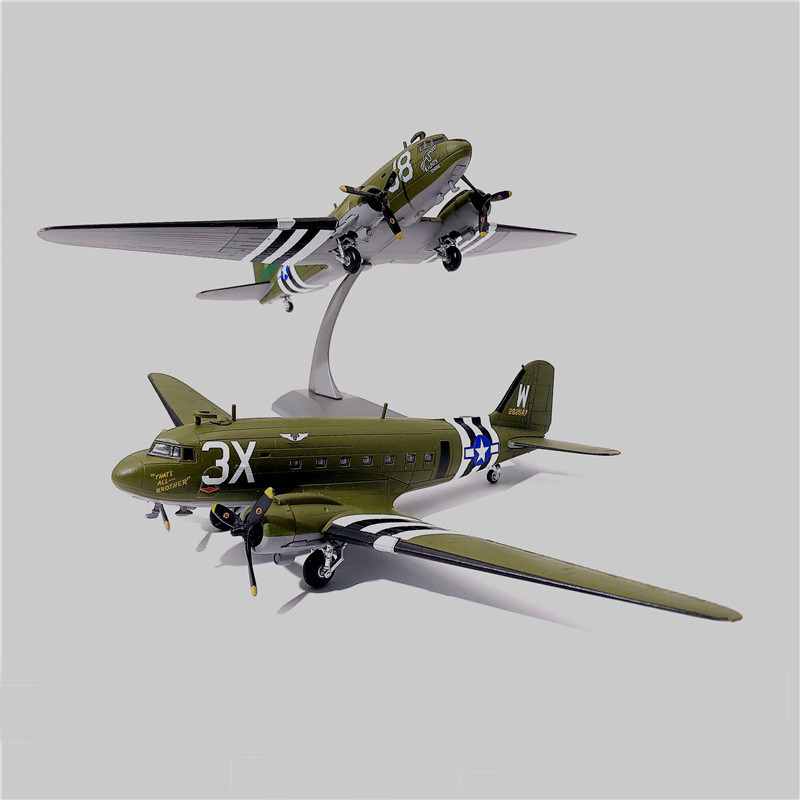1:100  C47 Transport Aircraft  World War II US 101 Airborne Division  Alloy Model  75th Anniversary Of The Battle Of Normandy