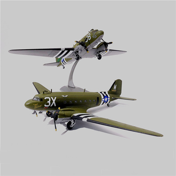 1:100 C47 transport aircraft World War II US 101 Airborne Division Alloy model 75th Anniversary of the Battle of Normandy фото