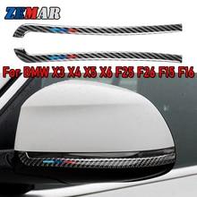 Carbon Fiber for BMW X5 F15 X6 F16 X3 F25 X4 F26 Rearview Mirror Anti rub Strip Car Styling Anti collision M Sticker Accessories