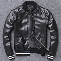 Name Brand Male Female Sheepskin Leather Jackets Woman Genuine Leather Coat Couple Leather Trench Coat 4XL Plus Streetwear A801