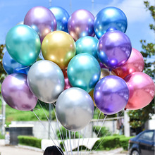 10pcs 12inch  Metallic Balloons Latex Glossy Pearl Colors Birthday Wedding Party Helium Balloon Decor Supplies