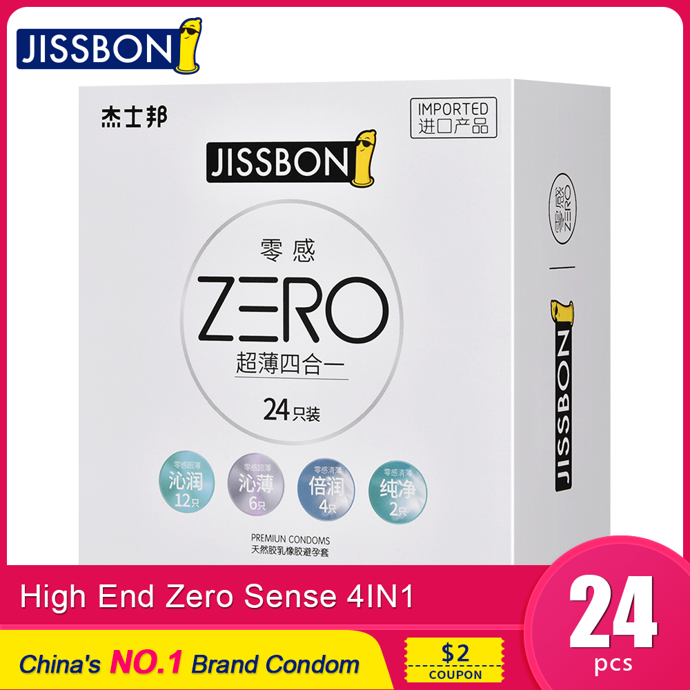 Jissbon Zero Thin Condom Rubber Penis Sleeve Extender Dick Ring Natural Latex Condoms Wholesale Lots <font><b>Bulk</b></font> Sex Toys for Men image
