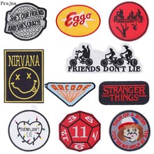 Embroidered Patches Clothing Music-Band-Patch NIRVANA Stripes Iron-On Prajna for DIY