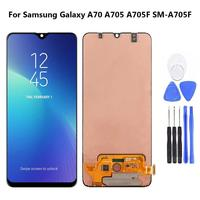 LCD Display Touch Screen Digitizer for Samsung Galaxy A70 A705 A705F SM A705F Replacement LCD Screen Phone Accessories with Tool