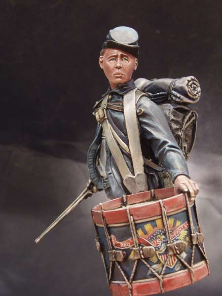 1/10   Ancient  Officer Drummer Man Bust   Resin Figure Model Kits Miniature Gk Unassembly Unpainted