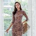 فستان خريف 2796 #2019 درجة عالية فستان Debutante دانتيل رائع مخملي شفاف منسوج