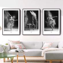 Nordic Style Black And White Dancing Girl Wall Pictures For Living Room Posters and Prints Minimalism Art Canvas Print