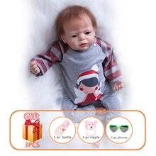 22 Inch Reborn Baby Doll Handmade Soft Silicone Lifelike Reborn Dolls Newborn Realistic Baby Dolls T