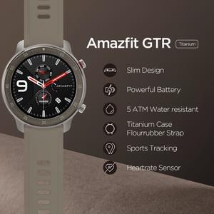 Image 2 - Küresel sürüm Amazfit GTR 47mm akıllı saat 5ATM yeni Smartwatch 24 gün pil müzik kontrol cihazı Android IOS telefon için