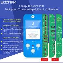 "JC V1s v1 עבור iphone 7 11ProMax מקורי רגיש צבע מגע הלם Baseband היגיון הקב""ה סוללה טביעות אצבע מתכנת"