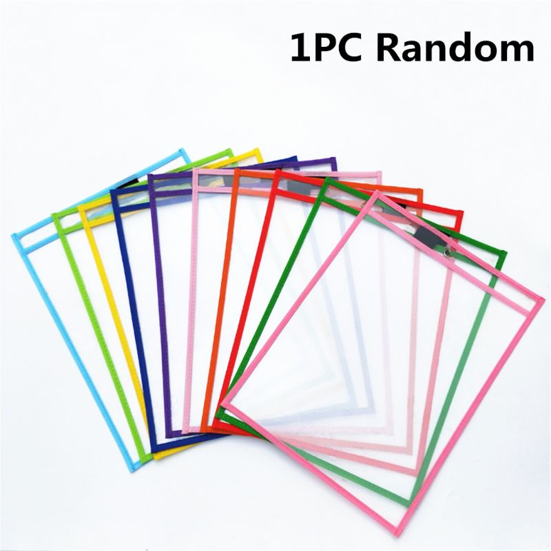 Puzzle Transparent Dry Brush Bag Can Be Reused With PVC PET Writing Dry Wipe Bag Drawing Toy For Kids Children Adult