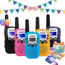 Retevis rt388 walkie-talkie crianças 2 pces comunicador crianças distância de rádio 100-800m walkie-talkies aniversário presente de ano novo