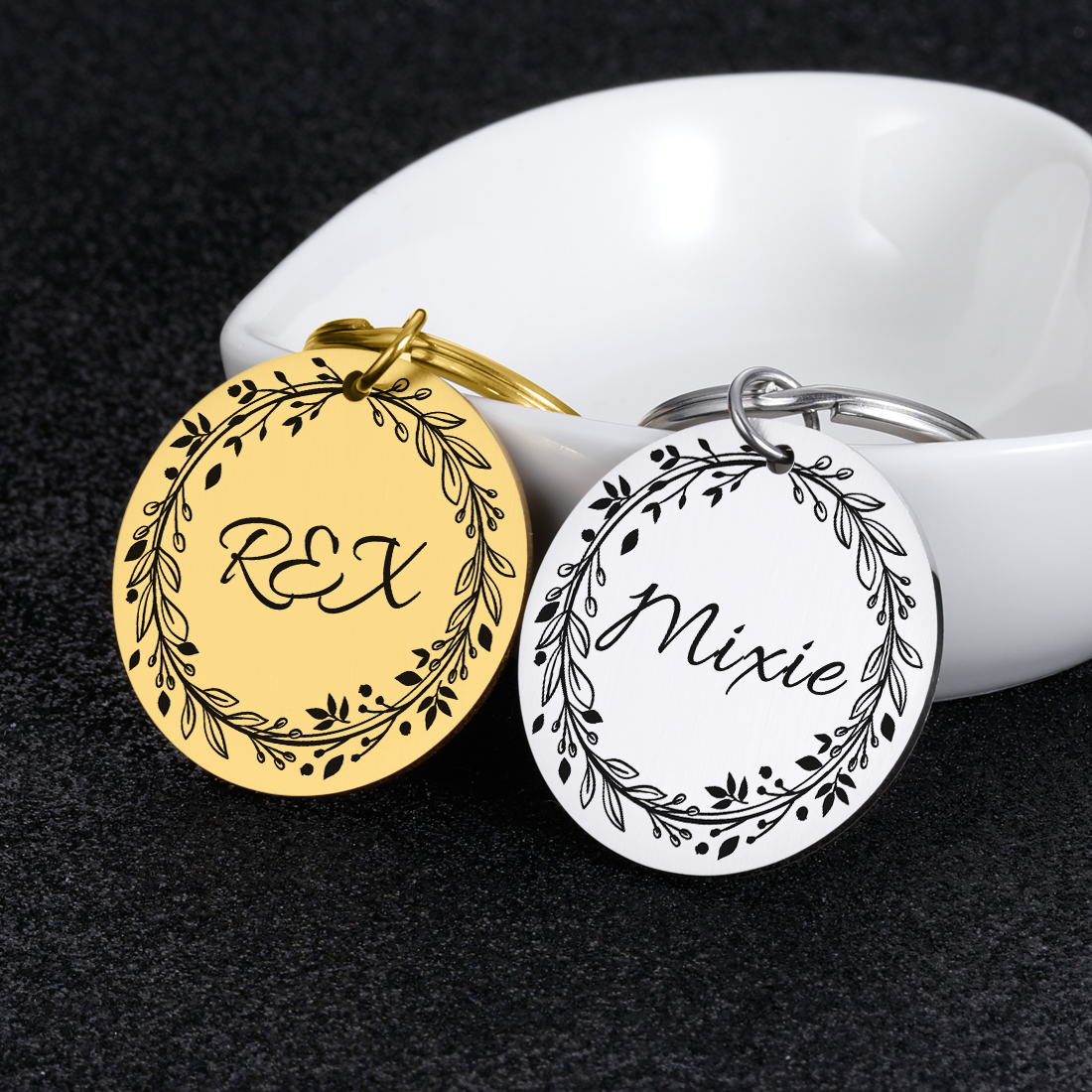 Personalized Tags Anti-lost Dog ID Tags Gifts for Dog Lovers Pet Collar Tags for Dog Owner Engraved Pet Tag New Puppy Tag Gifts