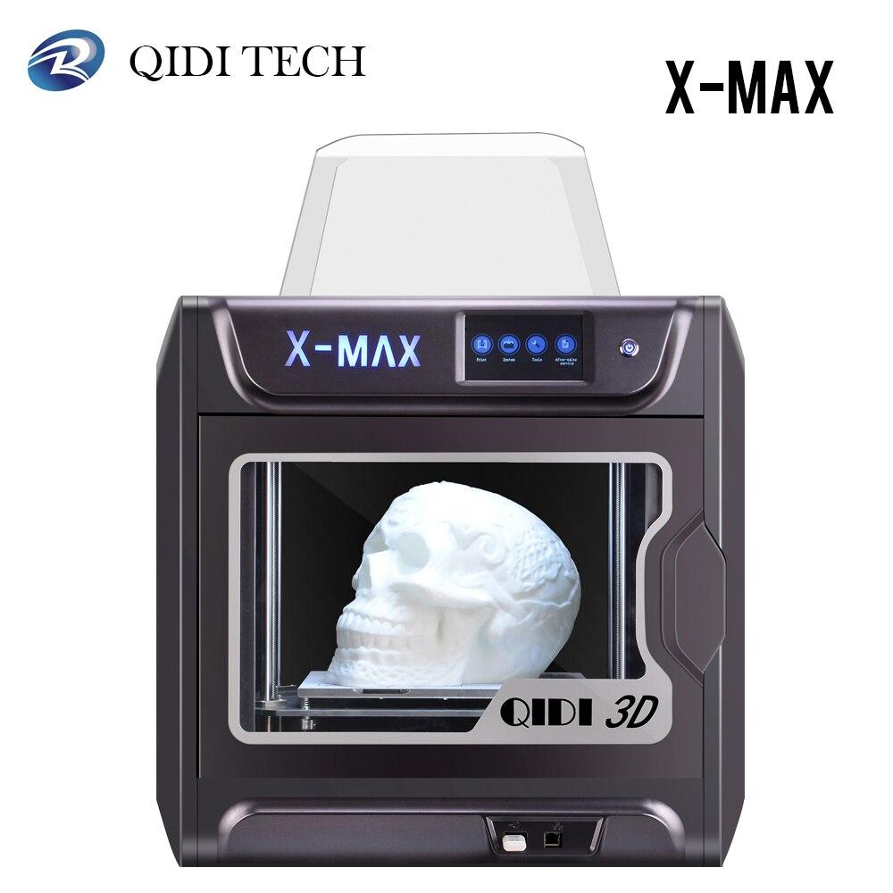 Impresora QIDI X-MAX 3D de gran tamaño de grado Industrial inteligente Impresora 3D de alta precisión con PLA, TPU, flexible 3D Drucker.