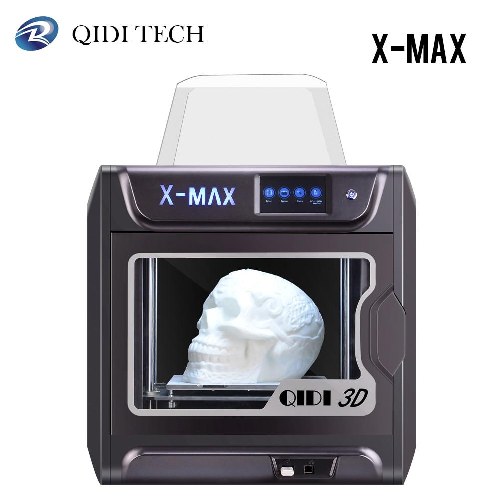 QIDI X-MAX imprimante 3D grande taille intelligente de qualité industrielle impression 3D haute précision impression avec PLA, TPU, Drucker 3D Flexible