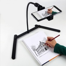 Adjustable Tripod with Cellphone Holder, Overhead Phone Mount, Table Top Teaching Online Stand for Live Streaming