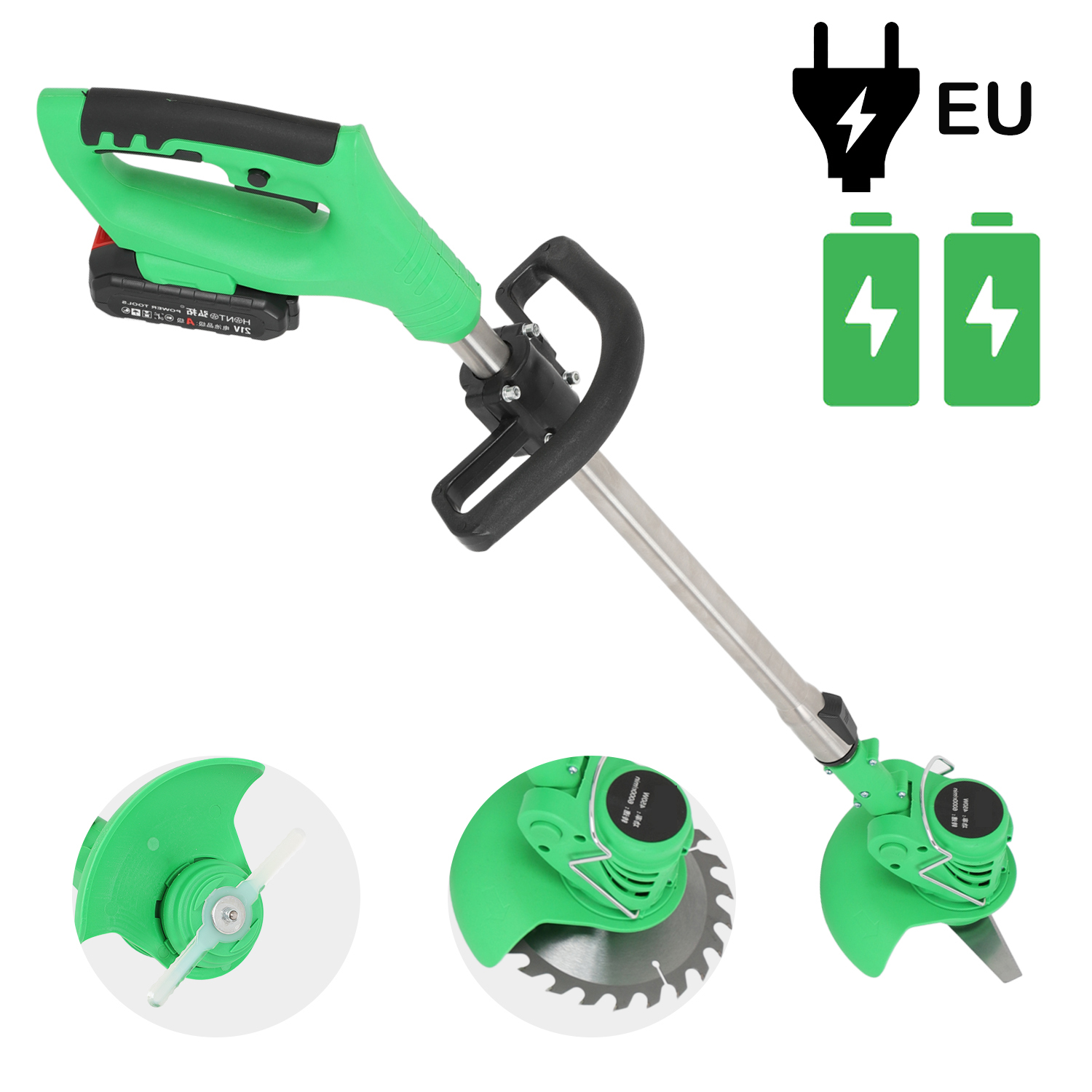 Electric Grass Trimmer Edger Lawn Mower 21V 3000mAh Lithium-Ion Cordless Weed Brush Cutter Kit Garden Tools Grass Cutter Brush