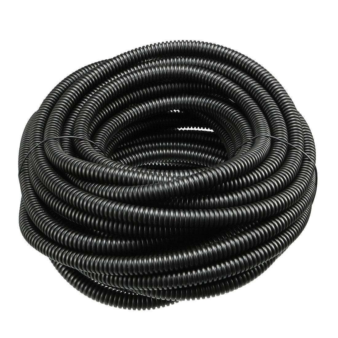 Uxcell Wellrohr Leitung PP Polyethylen Schläuche Flexible Rohr Schlauch Schwarz Id 5,2mm 7,5mm 10mm 12mm 17mm Lange 1,6 M-20M