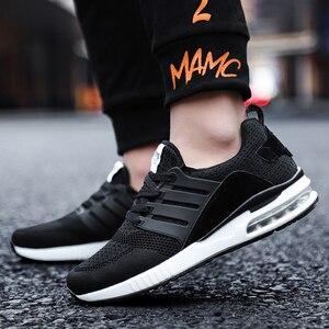 Image 3 - QGK 2020 yeni erkek spor ayakkabı erkekler kauçuk siyah koşu ayakkabıları ordu yeşil nefes örgü spor ayakkabılar erkek kadın kadın pembe Sneakers