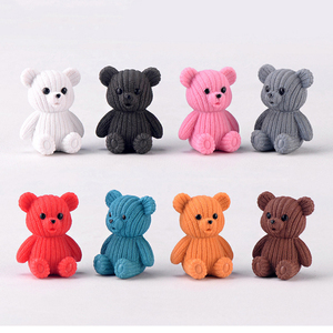 2019 popular party home decoration accessories Cute plastic teddy bear miniature fairy Easter animal garden figurines home decor(China)