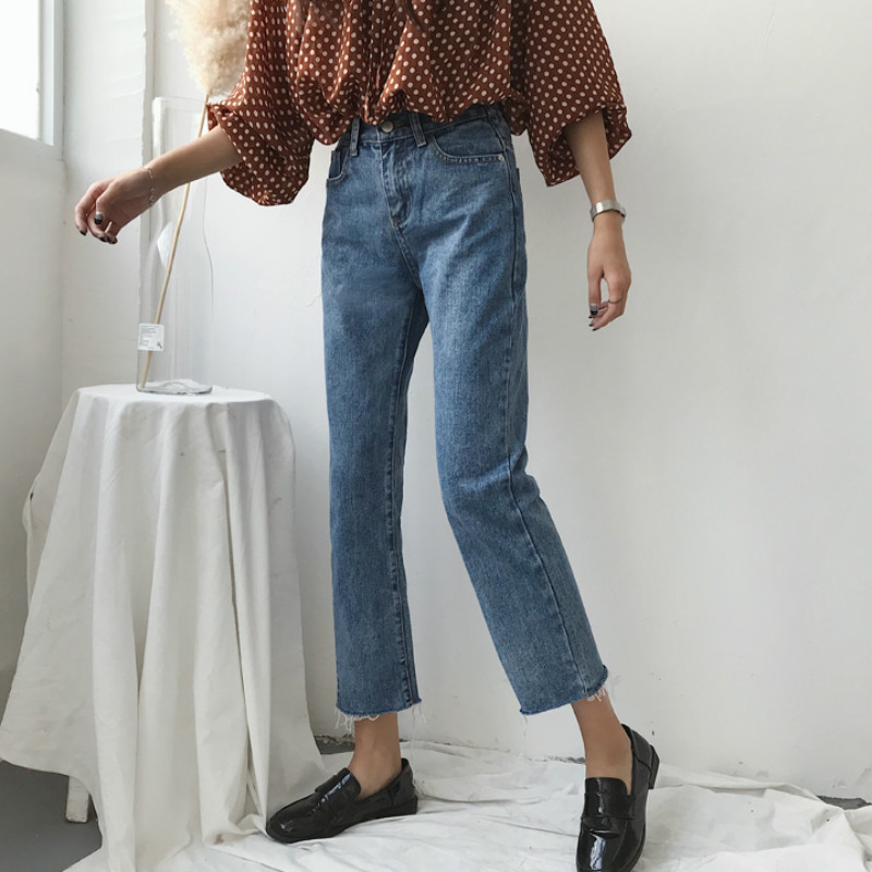 Image 2 - Jeans Women Trendy Elegant All match High quality Korean Style Leisure Daily Womens Female Lovely Simple 2020 New Girls SolidJeans   -