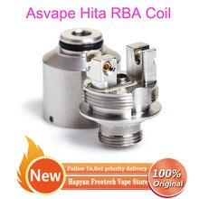 Coil-Head Mech Asvape Hita E-Cigarette Thread-Design Atomizer Cores 510 RBA for 30w/ink