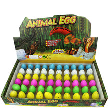 Hot 60Pcs Dinosaur Toy Hatching Dinosaur Egg Soaking Aquatic Animal Resurrection Egg Expansion Toy - Little Rain Flower/Colorful(China)