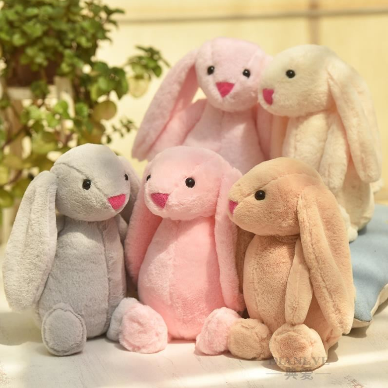 25cm Cute Stuffed Rabbit Plush Soft Toys Stuffed Animals Pillow Baby Accompany Sleep Toy Christmas Birthday Gifts