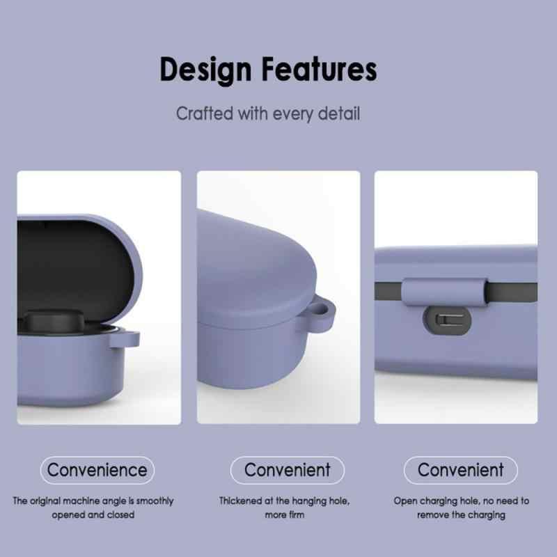 保護ケースの Bluetooth ヘッドセット Bluetooth ヘッドセットシリコンスリーブヘッドセットカバーとフックアクセサリー QCY ため T1S/QS2