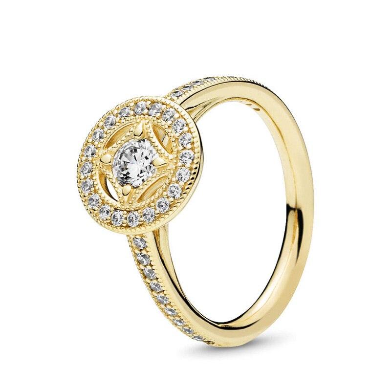 Кольцо на палец в форме сердечко серебряного цвета для женщин, европейская оригинальная Корона, изящные кольца на палец, свадебные украшения, 50 стилей, Прямая поставка - Цвет основного камня: Rings 050