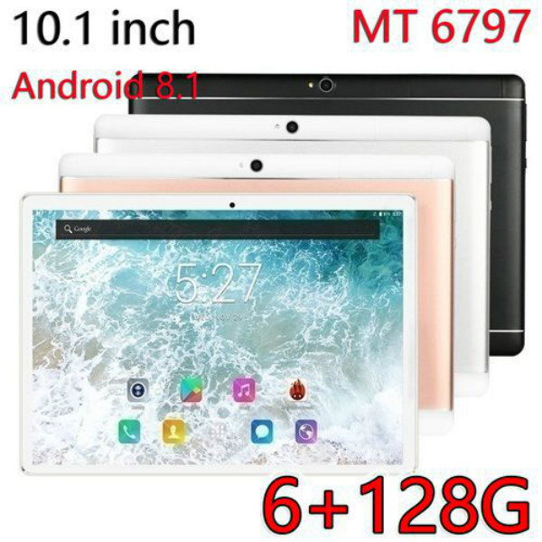 2020 New Tablet Android 8.0  10.1 Inch Tablet PC 6GB+128GB Quad Core WiFi Bluetooth Dual Camera Touch Screen  Kids Tablet