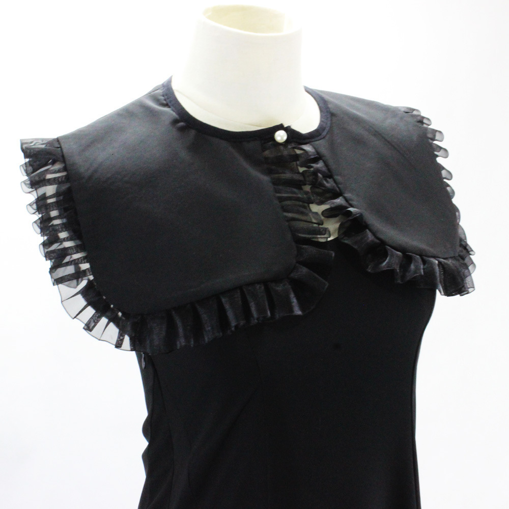 Dickie Generous Navy Chiffon Shirt Women Decoration Lead Fake Collar Detachable Wholesale