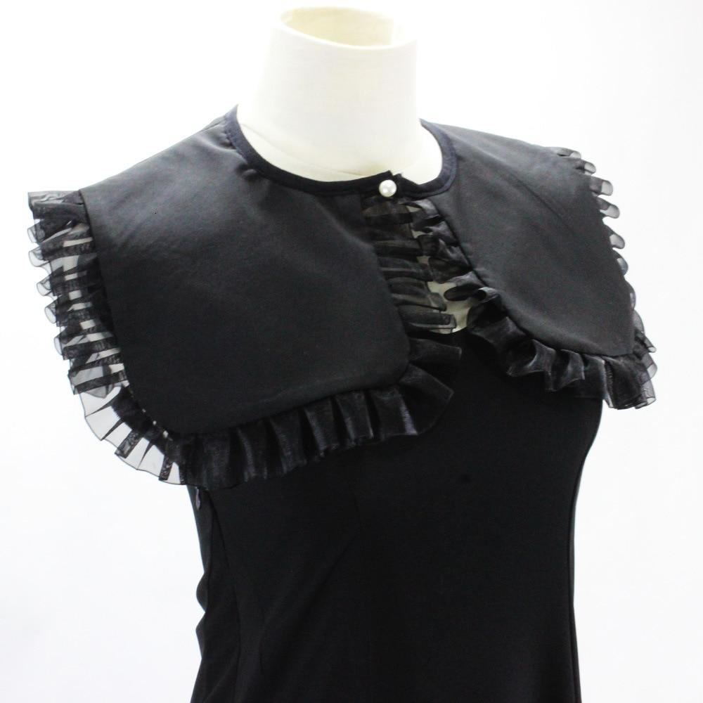 Dickie Generous Navy Chiffon Shirt Women Decoration Lead Fake Collar Detachable Wholesale