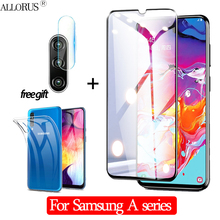 3-in-1 Case + Camera Tempered Glass For Samsung A70 A20-E Screen Protector Samusng A7 2018 Protective