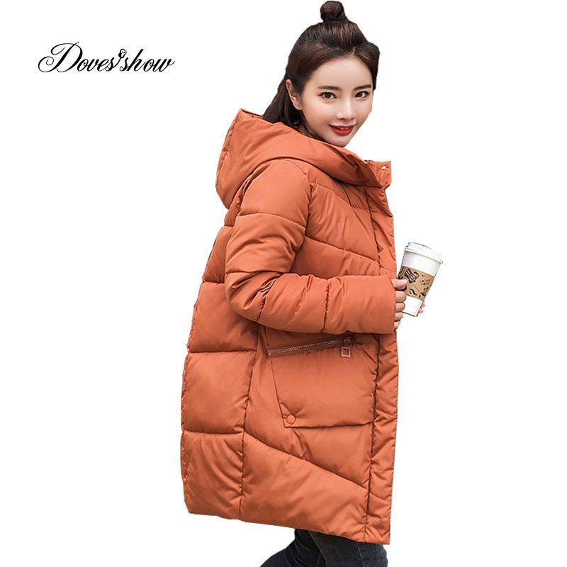 Caramel Hooded Elastic Winter Down Coat Jacket Long Warm Women Casaco Feminino Abrigos Mujer Invierno 2018 Parkas Outwear Coats