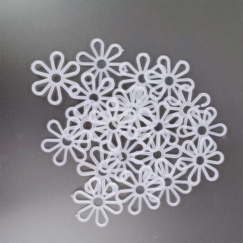 Yomdid 10 pçs pétalas de plástico criativo anéis diy artesanato sacos tecelagem suprimentos crisântemo padrão mão tricô acessórios