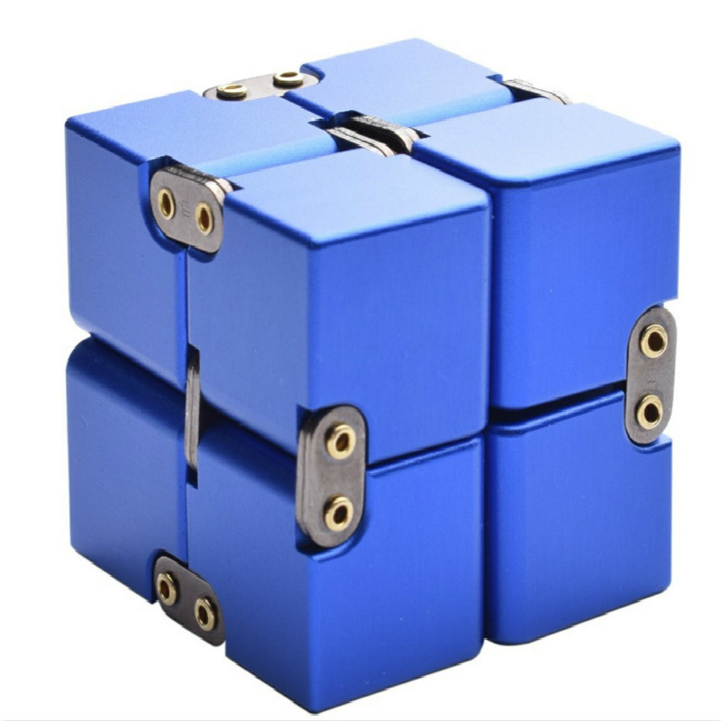 Magic Cube Puzzle Release Stress Cube Aluminum Alloy Infinite Cube Premium Metal Deformation Stress Reliever For EDC Anxiety