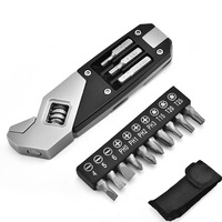 17 In 1 Multifunctional Wrench Adjustable Wrench Foldable Stainless Steel EDC Multi Tool With Screwdriver Camping Equipment