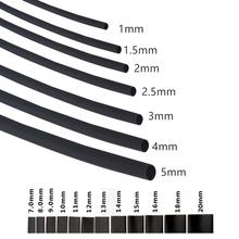 цена на 2:1 Black5M 2mm Diameter Heat Shrink Heatshrink Tubing Tube Sleeving Wrap Wire Sell DIY Connector Repair