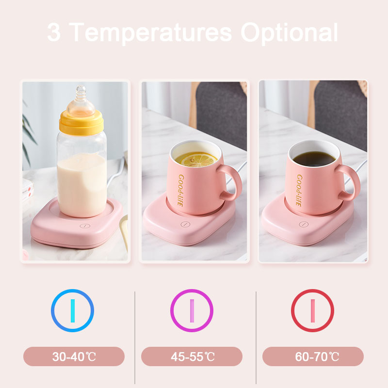 Умная кофейная кружка, подогреватель чашек, 90 V-220 V для офиса, дома, лучшая идея подарка, электрическая чашка для напитков, керамическая тарел...