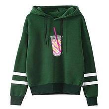 Модный свитшот rholycrown с капюшоном холодного кофе Женская