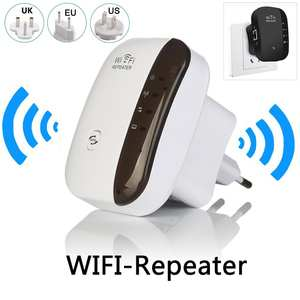 Wireless Wifi Repeater Signal-Boosters Wifi-Extender 300mbps 2