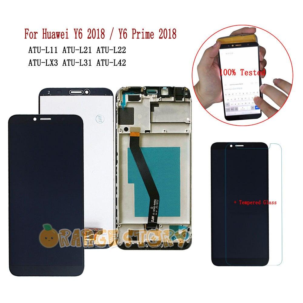 For Huawei Y6 2018 ATU L21 ATU LX3 ATU L31 L11 L22 L42 LCD