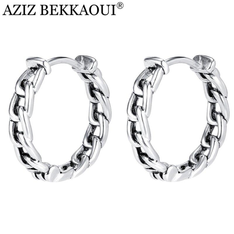 Ear-Jewelry Earrings 925-Sterling-Silver Punk-Chain-Type Fashion Man for Friend BEKKAOUI