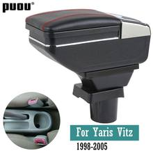 Auto Arm Rest Lagerung Box Für Toyota Yaris Vitz 1998-2005 Fließheck Center Console Storage Box Drehbare Armlehne(China)