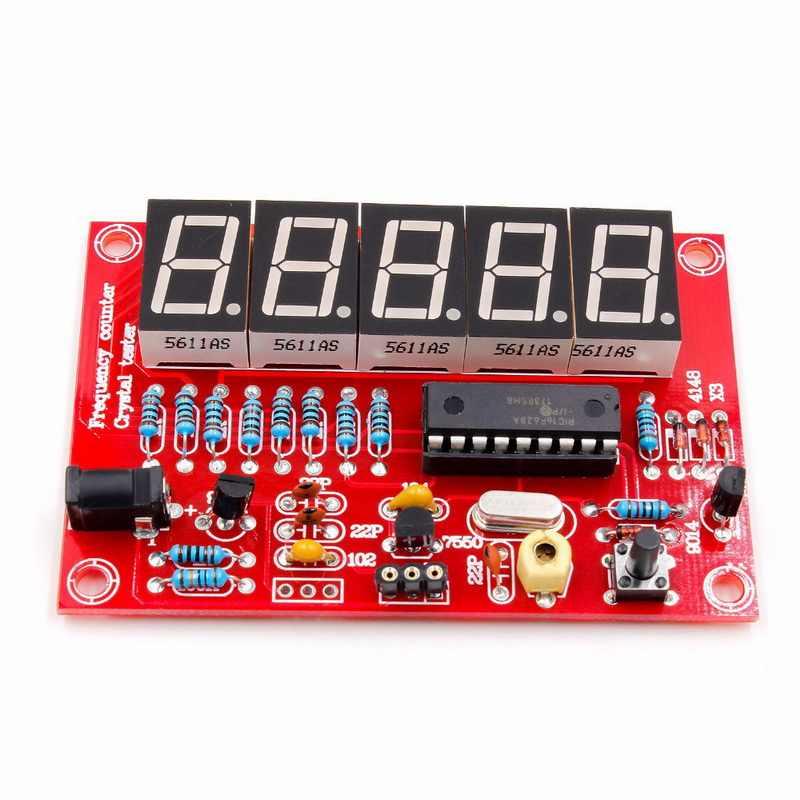 لتقوم بها بنفسك Kits1Hz-50MHz عداد التردد الكريستال مذبذب عداد التردد عداد LED الرقمية تستر متر التردد متر الرقمية