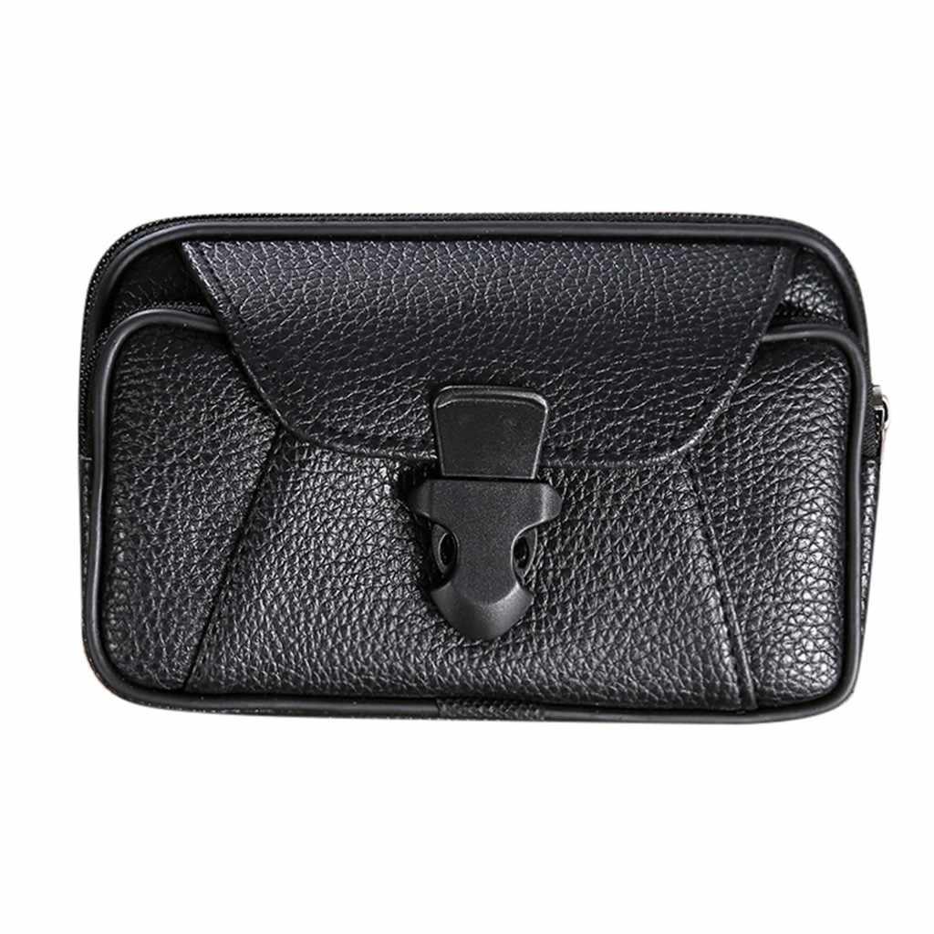 PU hommes ceinture sac téléphone portable poches femmes taille Pack voyage ceinture portefeuilles pièces de monnaie sac à main Cigarette pack Pochete Heuptas